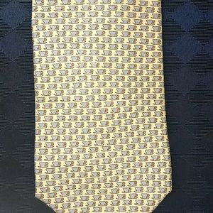 Dunhill London Coffee Cups Silk Tie